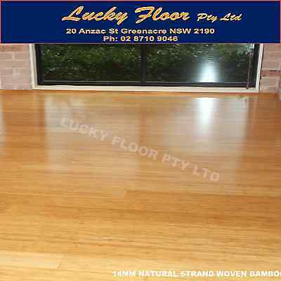14mm Natural STRAND WOVEN BAMBOO FLOORING /FLOATING FLOOR /TIMBER LAMINATE