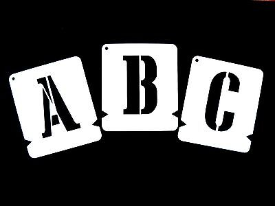 ALPHABET STENCILS LETTER STENCIL A-Z & 0-9 CARGO CRATE MILITARY * Incl. free &*