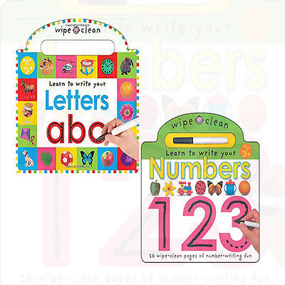 Wipe Clean Write and Learn Series 2 Books Collection Set Learning Letters NEW BB