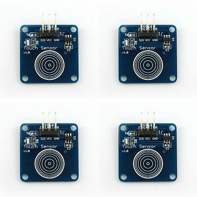 4 x Arduino Accessories Digital Touch Sensor Capacitive touch switch module