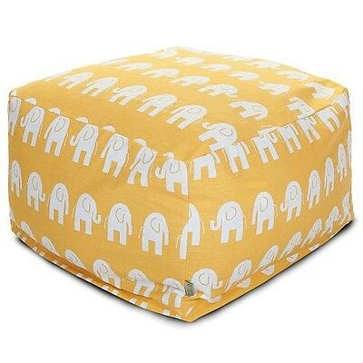 Majestic Home Goods Ellie Large Ottoman - Yellow