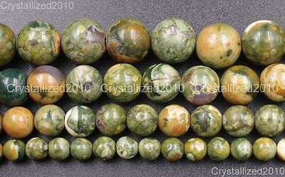 Natural Rhyolite Jasper Gemstone Round Ball Loose Beads 6mm 8mm 10mm 12mm 15.5''