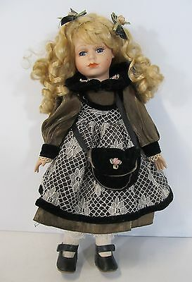 """Knightsbridge Collection 16"""" Porcelain Collectors Doll -  Strawberry Blonde Hair"""
