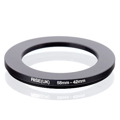 RISE (UK) 58-42MM 58MM-42MM 58 to 42 Step Down Ring Filter Adapter