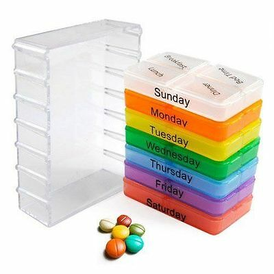 7 Day Weekly Tablet Pill Medicine Boxes Holder Storage Container Case