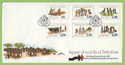 Zimbabwe 1997 Rural Life set on First Day Cover