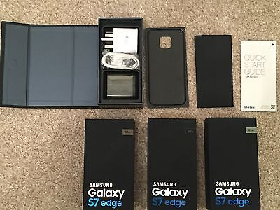 Samsung Galaxy S7 Edge 32Gb Gold Platinum Empty Box & Accessories Uk