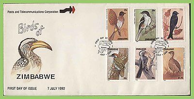 Zimbabwe 1992 Birds set on First Day Cover
