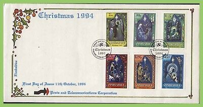Zimbabwe 1994 Christmas set on First Day Cover