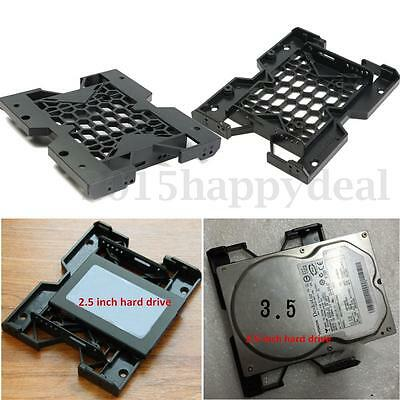 5.25'' to 3.5'' 2.5'' SSD Hard Drive Bay Adapter Holder Tray with Screws Black