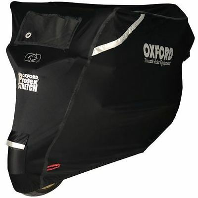 Oxford Protex Motorcycle Premium Cover Outdoor Motorbike Rain Black Extra Large