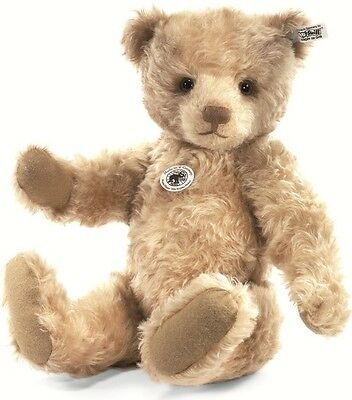 Steiff Wistful Happy Brown Mohair 1928 Rep Teddy Bear Squeaker 46cm 403118 New