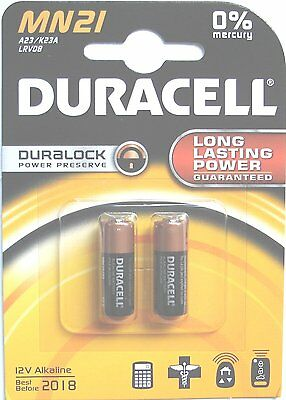 Duracell Duralock MN21  (LRV08 A23)  Pack Of  2  - 12 Volt Alkaline Batteries