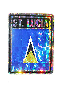"""Lucia Stickers Decal Lucia Flag St /""""3x4/"""" St"""
