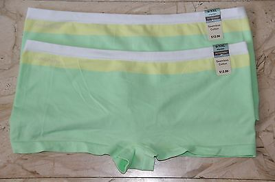 Lot Of 2 Ambrielle Seamless Cotton Hipster Briefs Womens Underwear Free Shipping