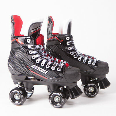 Bauer Quad Roller Skates - NSX - 2018 Model - Conversion -  Ventro Wheels
