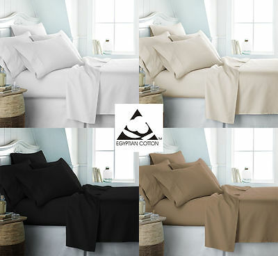 300 Thread Count Luxury 100% Egyptian Cotton Extra Deep Fitted Sheets All Sizes