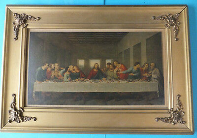 THE LAST SUPPER Religious Print Picture Framed Jesus International Art U.S.A