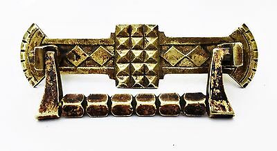 """Pirate Treasure Chest Handle Arts & Crafts Antique Drawer Pull 3 """" centers"""
