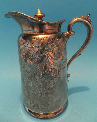 Vintage Silver Plated / Britannia Hallmarked Jug with Lid Collectable
