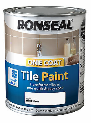 ronseal one coat tile paint 750ml - all colours