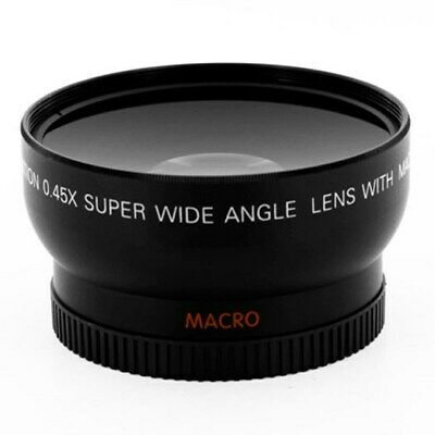 58mm 0.45X Wide Angle Lens for Canon EOS XS XSi T1i T2i T3 T3i