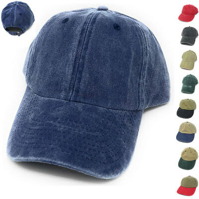 1 DOZEN Washed Cotton Baseball Low Crown 6 Panel Cap Caps Hats WHOLESALE BULK