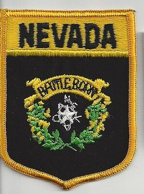 Souvenir Shield  Patch Of The State Of Nevada