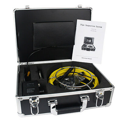 """7"""" TFT Underwater Video Camera System Drain Pipe Sewer Pipe Snake 600TVL Best"""