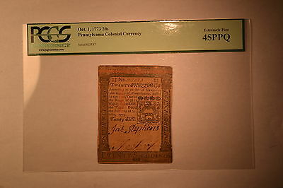 Pennsylvania October 1, 1773 20s PCGS Extremely Fine 45PPQ.
