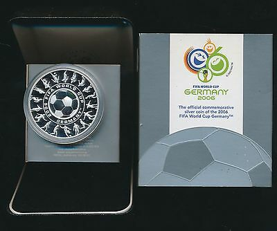 2006 FIFA WORLD CUP 1oz HOLEY DOLLAR .999 SILVER PROOF COIN