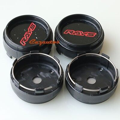 4x Black Wheel Center Cap Hub Cap Fit Volk Racing Rays TE37 RE30