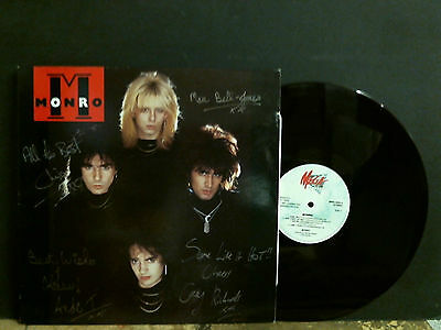 MONRO  Monro  L.P.   SIGNED BY THE BAND    Metal  Rock    Rare !!