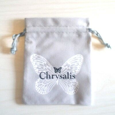 AUTHENTIC Chrysalis Drawstring Grey Colored Jewelry Pouches-Pack of 100 Pouches