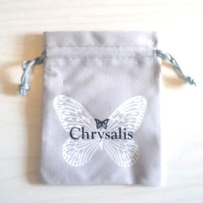 Pack of 100 NEW POUCHES- AUTHENTIC Chrysalis Drawstring Grey Jewelry Pouches