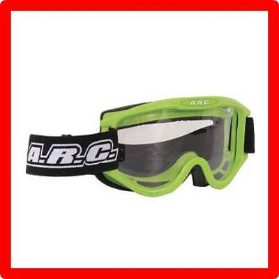 New Arc Motocross Goggles Green Adult Size