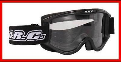 New Arc Motocross Goggles Black Adult Size