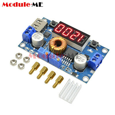 TOP 5A CC/CV LED Drive Lithium charger Power Step-down Module W/ USB Voltmeter M
