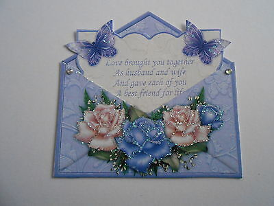 PK 2 HAPPY ANNIVERSARY EMBELLISHMENT FOR CARDS OR CRAFTS
