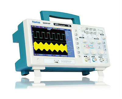 "Hantek DSO5102P Digital Oscilloscope 100MHz 1Gs 2CH 7"" TFT USB Lab"