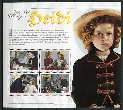 GRENADA 2000 Shirley Temple Film Heidi Cinema 4421-30 ** MNH