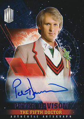 Topps 2016 Timeless Doctor Who Peter Davison Purple Autograph Card (09/25)