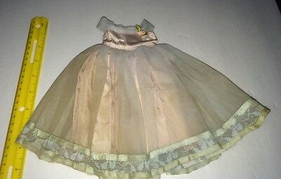 Vintage 1950s Tiny Terri Lee Doll Formal Tagged Gown Light Purple & Blue