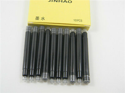 10pc Jinhao Black smooth cartridges metal fit for Fountain Pen Ink