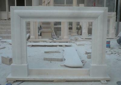 Marble Fireplace Mantel Hand Carved Contemporary Modern