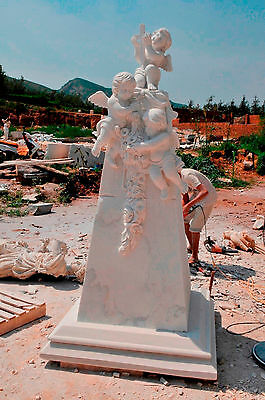 Marble Angels with Cross,  Monument, Cemetery or Church Statue