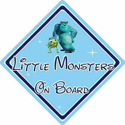Little Monsters On Board Car Sign – Baby On Board – Disney Monsters Inc