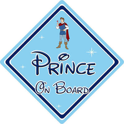 Disney Prince On Board Car Sign - Baby On Board - Snow White Prince Ferdinand