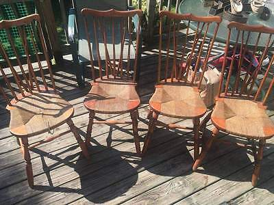 Antique Furniture Vintage Chair set of 4 Rare Collectibles Stamped 1896 handmade
