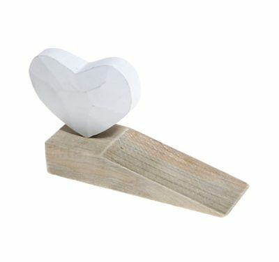 Wooden Heart Door Stop Decorative Chic & Shabby